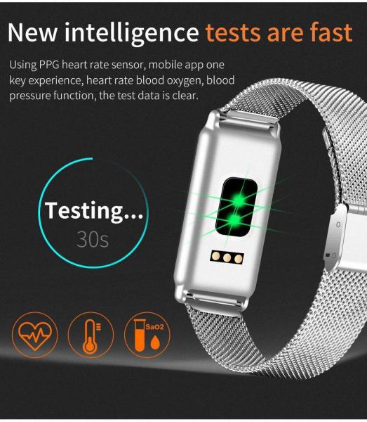 Bratara fitness MoreFIT™ Y8 , BT 4.0, Ritm Cardiac, Tensiune, Nivel Oxigen, Calorii, Pedometru, Monitorizare Somn, Notificari Apeluri si Mesaje, Anti-lost, Stand-by 15 zile, Android, iOS, Curea Otel I 1