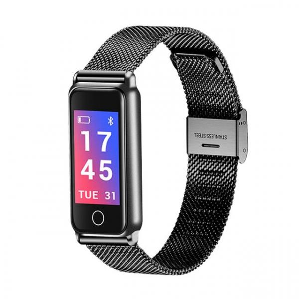 Bratara fitness MoreFIT™ Y8 ,BT 4.0, Ritm Cardiac, Tensiune, Nivel Oxigen, Calorii, Pedometru, Monitorizare Somn, Notificari Apeluri si Mesaje, Anti-lost, Stand-by 15 zile, Android, iOS, Curea Otel I 0