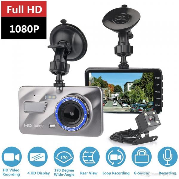 Camera auto DVR FreeWay™ A10, FullHD 1080p@30Fps, camera dubla, G-senzor, lentile Sony , super night vision, suport prindere, 4 inch LCD, unghi de filmare 170 grade, inregistrare ciclica ( bucla , loo 3