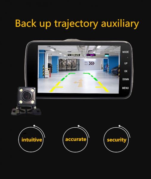 Camera auto DVR FreeWay™ A21, camera dubla, 1080p FullHD, G-senzor, lentile Sony , super night vision, suport prindere , 4 inch LCD, unghi de filmare 170 grade, inregistrare ciclica ( bucla , looping  3
