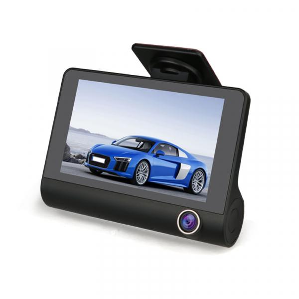 Camera auto DVR FreeWay™ C3, 3 Camere, 1080p 30Fps FullHD, G-senzor, lentile Sony , super night vision, suport prindere , 4 inch LCD, unghi de filmare 170 grade, inregistrare ciclica ( bucla , looping 0