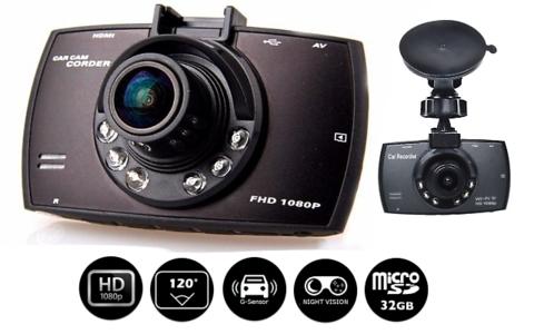 Camera auto DVR FreeWay™ G30, FullHD 1080p@30Fps, camera dubla, G-senzor, lentile Sony , super night vision, suport prindere, 2.7 inch LCD, unghi de filmare 120 grade, inregistrare ciclica ( bucla , l 3