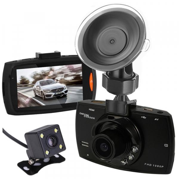 Camera auto DVR FreeWay™ G30, FullHD 1080p@30Fps, camera dubla, G-senzor, lentile Sony , super night vision, suport prindere, 2.7 inch LCD, unghi de filmare 120 grade, inregistrare ciclica ( bucla , l 0
