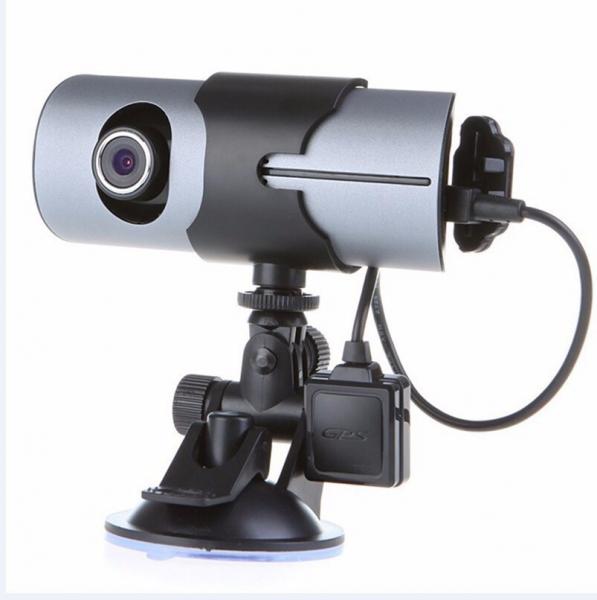 Camera auto DVR FreeWay™ R300, GPS, camera dubla, 720p@30fps HD, baterie incorporata, G-senzor, lentile Sony , super night vision, mod de noapte automat, 2.7 inch LCD, unghi de filmare 140 grade, inre 2