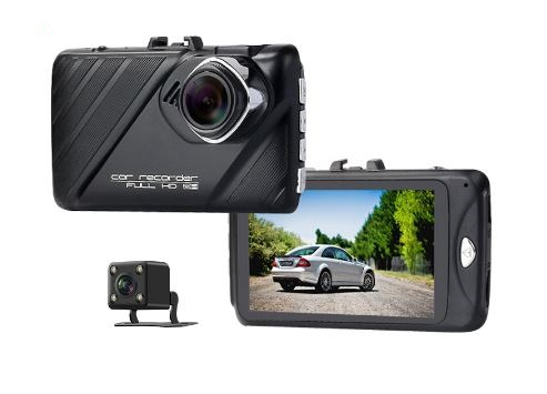 Camera auto DVR FreeWay™ T658, camera dubla, FullHD 1080p@30Fps, G-senzor, lentile Samsung, Super Night Vision, Suport prindere , 2 inch TFT, unghi de filmare 170 grade, Detectare miscare, inregistrar 0