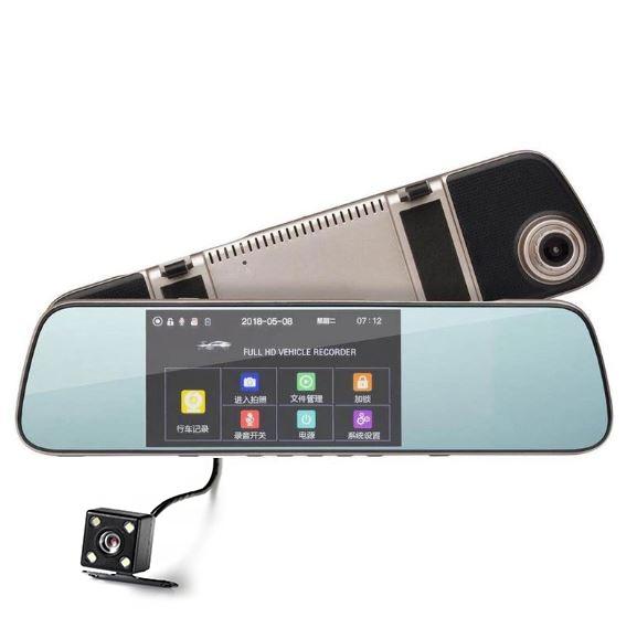 Camera Auto Oglinda Smart TouchScreen DVR FreeWay™ L1005, camera dubla, 2MP 1080p FullHD, G-senzor, lentile Sony , super night vision, suport prindere , 5 inch HD LCD, unghi de filmare 140 grade, inre 0