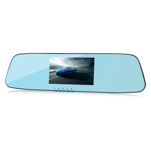 Camera Auto Oglinda TouchScreen DVR L505C, camera dubla, 1080p FullHD, G-senzor, suport prindere , 4.3 inch HD LCD, unghi de filmare 140 grade, inregistrare ciclica ( bucla ), negru 1