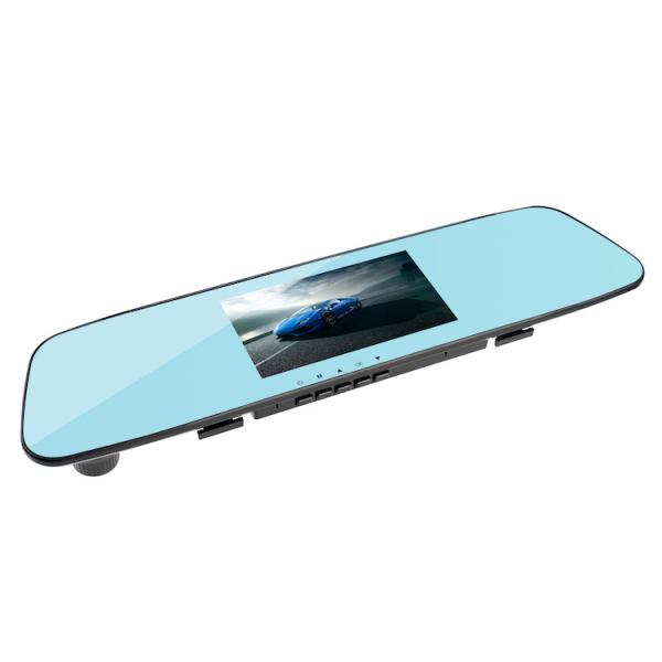 Camera Auto Oglinda TouchScreen DVR L505C, camera dubla, 1080p FullHD, G-senzor, suport prindere , 4.3 inch HD LCD, unghi de filmare 140 grade, inregistrare ciclica ( bucla ), negru 2