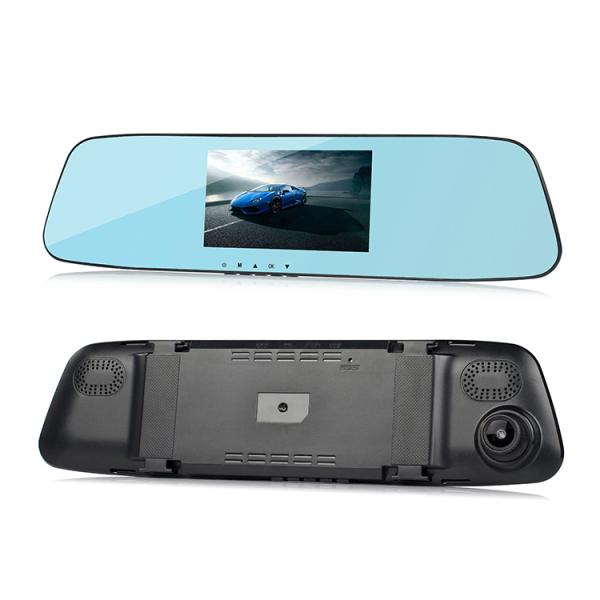 Camera Auto Oglinda TouchScreen DVR L505C, camera dubla, 1080p FullHD, G-senzor, suport prindere , 4.3 inch HD LCD, unghi de filmare 140 grade, inregistrare ciclica ( bucla ), negru 5
