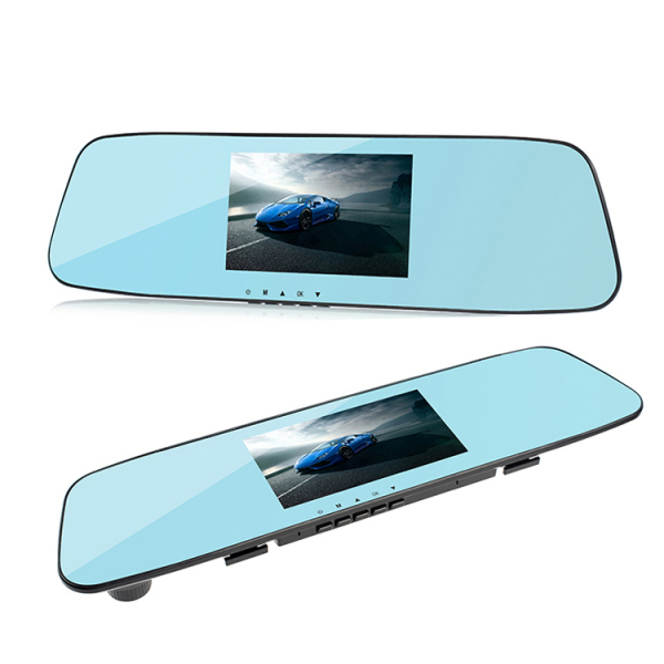 Camera Auto Oglinda TouchScreen DVR L505C, camera dubla, 1080p FullHD, G-senzor, suport prindere , 4.3 inch HD LCD, unghi de filmare 140 grade, inregistrare ciclica ( bucla ), negru 6