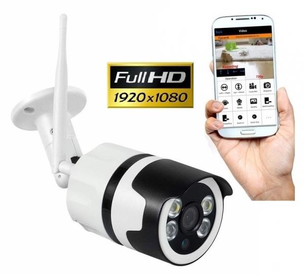 Camera de supraveghere IP WIFI BabyToy™ AG03 , Exterior , Conectare Telefon / PC, night vision color, rezistenta la apa, FullHD 1920*1080, camera 2.0 MP, senzor miscare, alb [0]