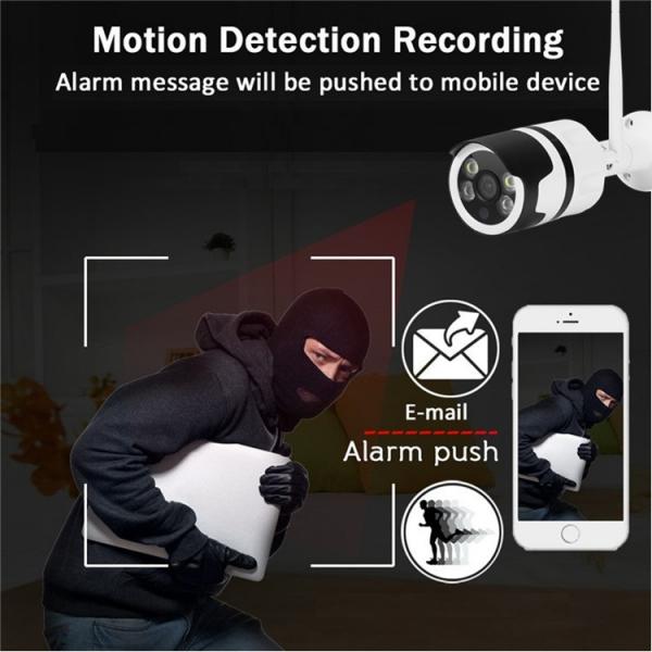 Camera de supraveghere IP WIFI BabyToy™ AG03 , Exterior , Conectare Telefon / PC, night vision color, rezistenta la apa, FullHD 1920*1080, camera 2.0 MP, senzor miscare, alb [3]