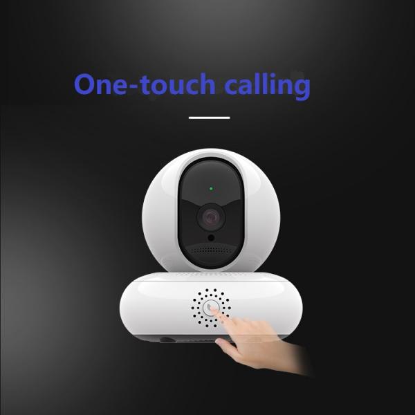Camera de supraveghere IP WIFI BabyToy™ AG30 , Full HD 2MP, Buton apelare rapida/telefon, Night vision, Conectare telefon / PC , Rotire automata, rezolutie 1920*1080 , senzor miscare, alb 1