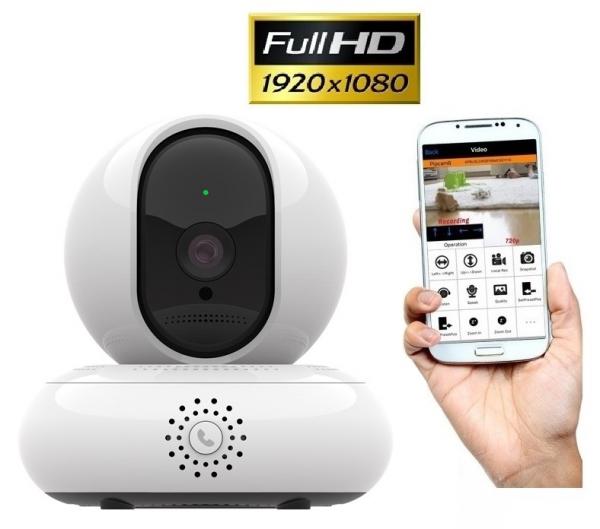 Camera de supraveghere IP WIFI BabyToy™ AG30 , Full HD 2MP, Buton apelare rapida/telefon, Night vision, Conectare telefon / PC , Rotire automata, rezolutie 1920*1080 , senzor miscare, alb 0