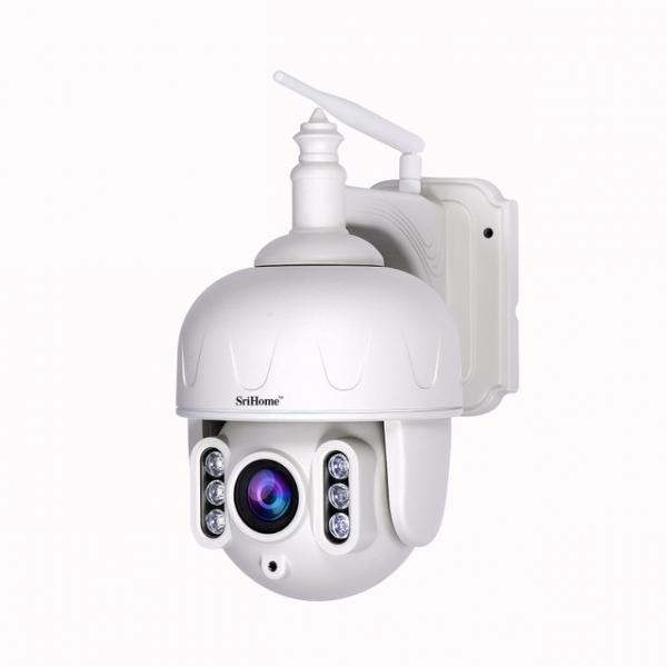 Camera de supraveghere IP WIFI Sricam™ SH028 Plus SriHome , Exterior , UltraHD 3MP, Conectare Telefon / PC , night vision , rezistenta la apa, rezolutie 2048x1536, senzor miscare , alb [2]