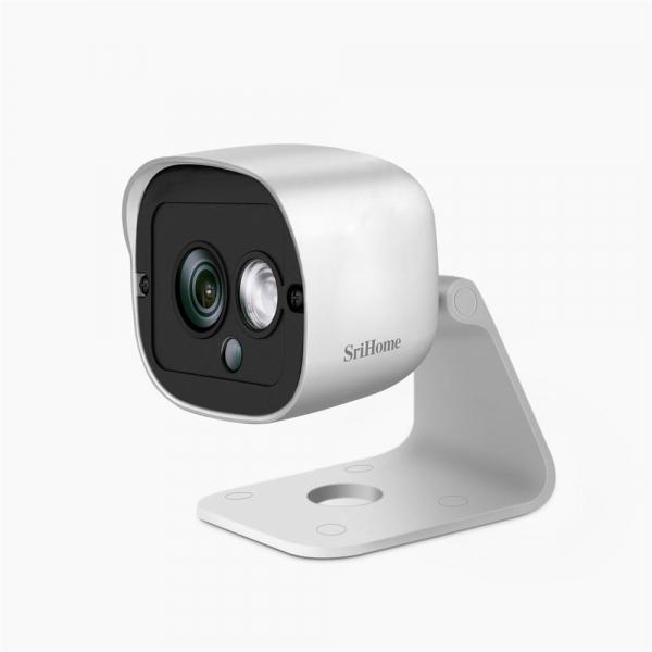 Camera de supraveghere IP WIFI Sricam™ SH029 Plus SriHome Exterior , UltraHD 3MP 2048x1536, Conectare Telefon / PC , night vision , rezistenta la apa, senzor miscare, alb [1]