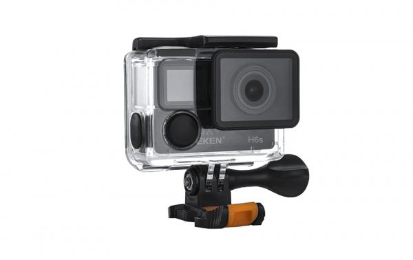 "Camera Video Sport Eken H6S+ 4k+ 14MP UHD @30fps, cu EIS Wifi, 2""LCD dual dispaly , telecomanda, accesorii, carcasa waterproof 100 feet , negru 3"