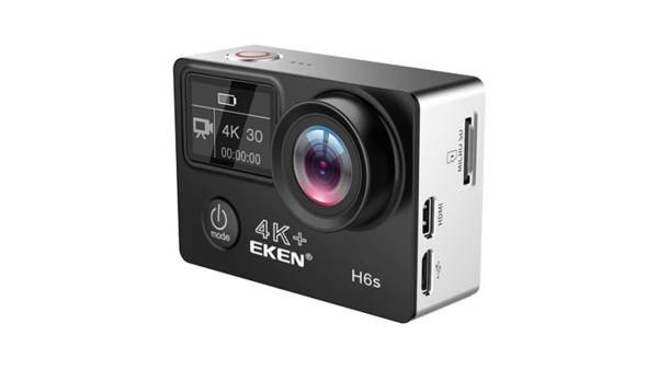 "Camera Video Sport Eken H6S+ 4k+ 14MP UHD @30fps, cu EIS Wifi, 2""LCD dual dispaly , telecomanda, accesorii, carcasa waterproof 100 feet , negru 2"