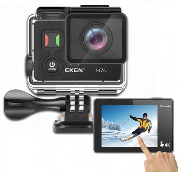 "Camera Video Sport Eken H7s Pro 4k+ 14MP UHD @30fps, Wi-Fi, Touch screen, 2""LCD Dual dispaly , telecomanda, accesorii, carcasa waterproof 30m , negru [0]"