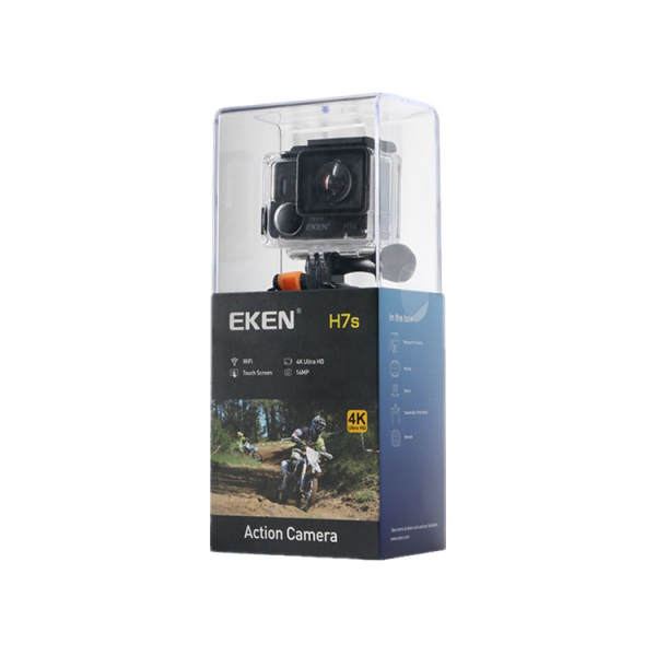 "Camera Video Sport Eken H7s Pro 4k+ 14MP UHD @30fps, Wi-Fi, Touch screen, 2""LCD Dual dispaly , telecomanda, accesorii, carcasa waterproof 30m , negru [3]"