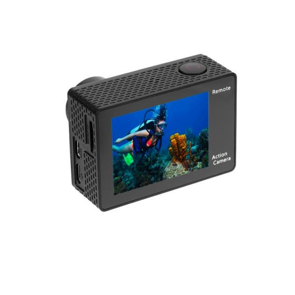 "Camera Video Sport Eken H8R Plus 4k+ 14MP UHD @30fps, Wi-Fi, 2""LCD Dual Dispaly , telecomanda, accesorii, carcasa waterproof 30m , negru 3"