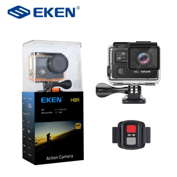 "Camera Video Sport Eken H8R Plus 4k+ 14MP UHD @30fps, Wi-Fi, 2""LCD Dual Dispaly , telecomanda, accesorii, carcasa waterproof 30m , negru 2"
