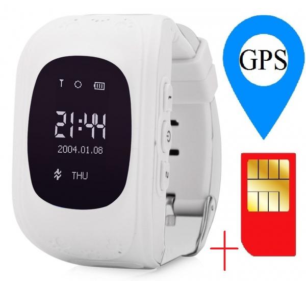 Ceas smartwatch cu GPS copii MoreFIT™ Q50 , functie telefon, monitorizare GPS in timp real , Wi-FI, buton SOS si monitorizare spion, alb +SIM prepay cadou 1