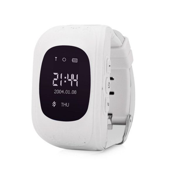 Ceas smartwatch cu GPS copii MoreFIT™ Q50 , functie telefon, monitorizare GPS in timp real , Wi-FI, buton SOS si monitorizare spion, alb +SIM prepay cadou 0
