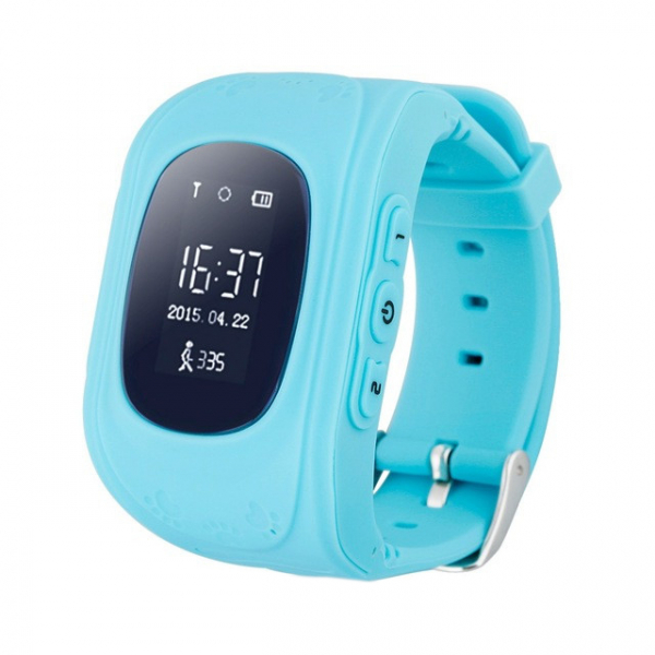 Ceas smartwatch cu GPS copii MoreFIT™ Q50, functie telefon, monitorizare GPS in timp real , Wi-FI, buton SOS si monitorizare spion, albastru +SIM prepay cadou 0