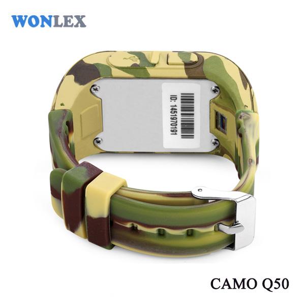Ceas smartwatch cu GPS copii MoreFIT™ Q50 , functie telefon, monitorizare GPS in timp real , Wi-FI, buton SOS si monitorizare spion, galben camo +SIM prepay cadou [4]