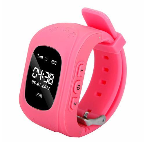 Ceas smartwatch cu GPS copii MoreFIT™ Q50 , functie telefon, monitorizare GPS in timp real , Wi-FI, buton SOS si monitorizare spion, roz +SIM prepay cadou [0]