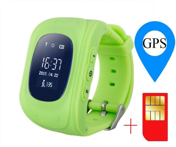 Ceas smartwatch cu GPS copii MoreFIT™ Q50, functie telefon, monitorizare GPS in timp real , Wi-FI, buton SOS si monitorizare spion, verde +SIM prepay cadou [1]