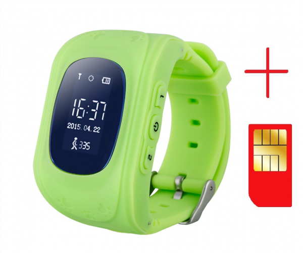 Ceas smartwatch cu GPS copii MoreFIT™ Q50, functie telefon, monitorizare GPS in timp real , Wi-FI, buton SOS si monitorizare spion, verde +SIM prepay cadou [2]