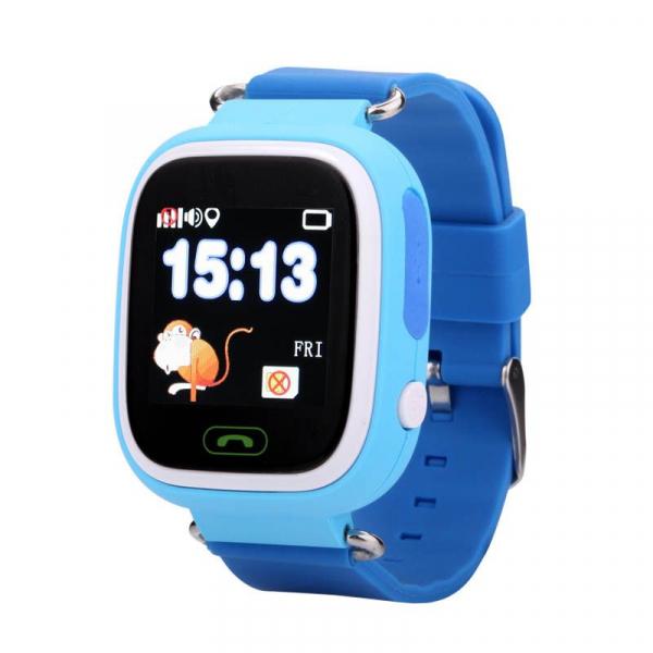 "Ceas smartwatch GPS copii MoreFIT™ GW100 Plus , cu GPS si functie telefon, Wi-Fi, ecran 1.22"" touchscreen, Bluetooth, tripla pozitionare, Buton SOS, vibratii, Albastru + SIM prepay cadou 4"