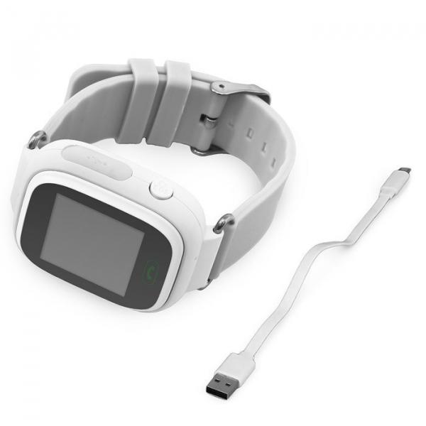 "Ceas smartwatch GPS copii MoreFIT™ GW100 Plus , cu GPS si functie telefon, Wi-Fi, ecran 1.22"" touchscreen, Bluetooth, tripla pozitionare, Buton SOS, vibratii, alb + SIM prepay cadou 2"