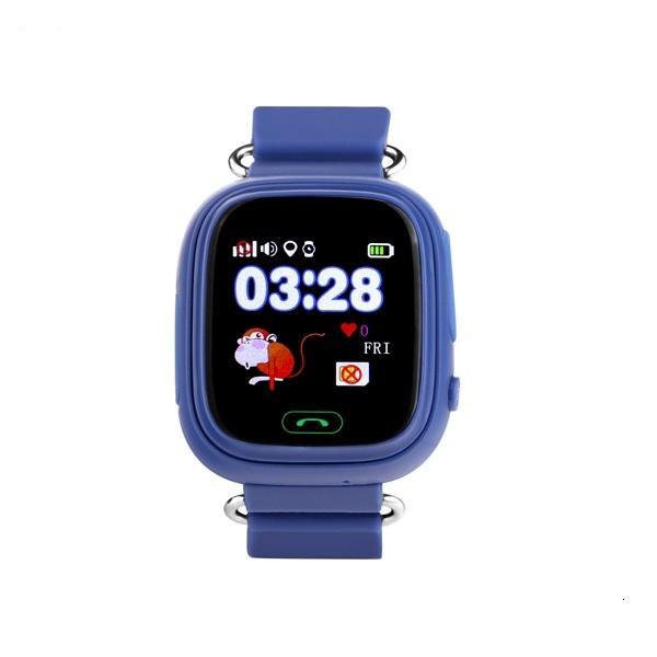 "Ceas smartwatch GPS copii MoreFIT™ GW100 Plus , cu GPS si functie telefon, Wi-Fi, ecran 1.22"" touchscreen, Bluetooth, tripla pozitionare, Buton SOS, vibratii, Bleumarin + SIM prepay cadou [0]"