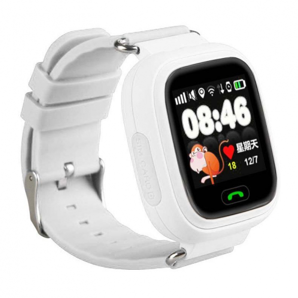 "Ceas smartwatch GPS copii MoreFIT™ GW100 Plus , cu GPS si functie telefon, Wi-Fi, ecran 1.22"" touchscreen, Bluetooth, tripla pozitionare, Buton SOS, vibratii, rosu + SIM prepay cadou 0"