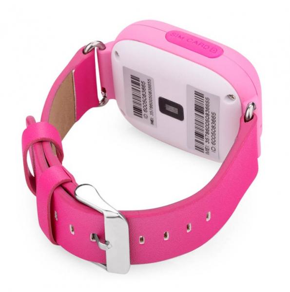 "Ceas smartwatch GPS copii MoreFIT™ GW100 Plus , cu GPS si functie telefon, Wi-Fi, ecran 1.22"" touchscreen, Bluetooth, tripla pozitionare, Buton SOS, vibratii, Roz + SIM prepay cadou 5"