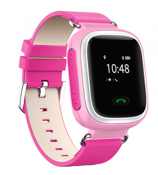"Ceas smartwatch GPS copii MoreFIT™ GW100 Plus , cu GPS si functie telefon, Wi-Fi, ecran 1.22"" touchscreen, Bluetooth, tripla pozitionare, Buton SOS, vibratii, Roz + SIM prepay cadou 3"
