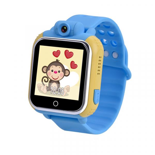 "Ceas smartwatch GPS copii MoreFIT™ GW1000 3G Pro , GPS, camera 2MP, Wi-FI si functie telefon, ecran touchscreen 1.54"", buton SOS, Albastru + SIM prepay cadou [0]"