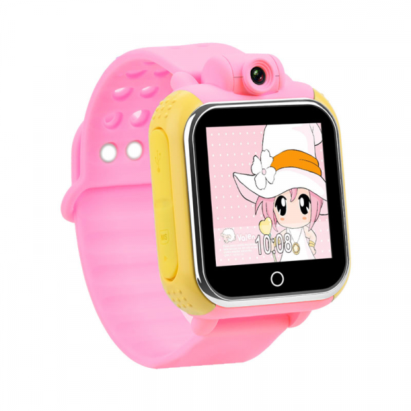"Ceas smartwatch GPS copii MoreFIT™ GW1000 3G Pro , GPS, camera 2MP, Wi-FI si functie telefon, ecran touchscreen 1.54"", buton SOS, Roz + SIM prepay cadou 0"