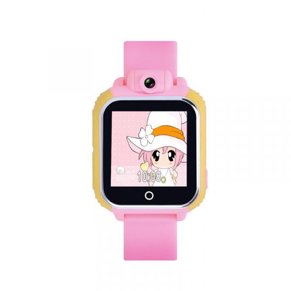 "Ceas smartwatch GPS copii MoreFIT™ GW1000 3G Pro , GPS, camera 2MP, Wi-FI si functie telefon, ecran touchscreen 1.54"", buton SOS, Roz + SIM prepay cadou 3"