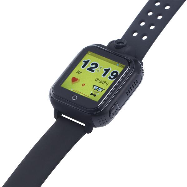 "Ceas smartwatch GPS copii MoreFIT™ GW1000x 3G Pro , GPS, camera 2MP, Wi-FI si functie telefon, ecran touchscreen 1.54"", buton SOS, Negru 3"