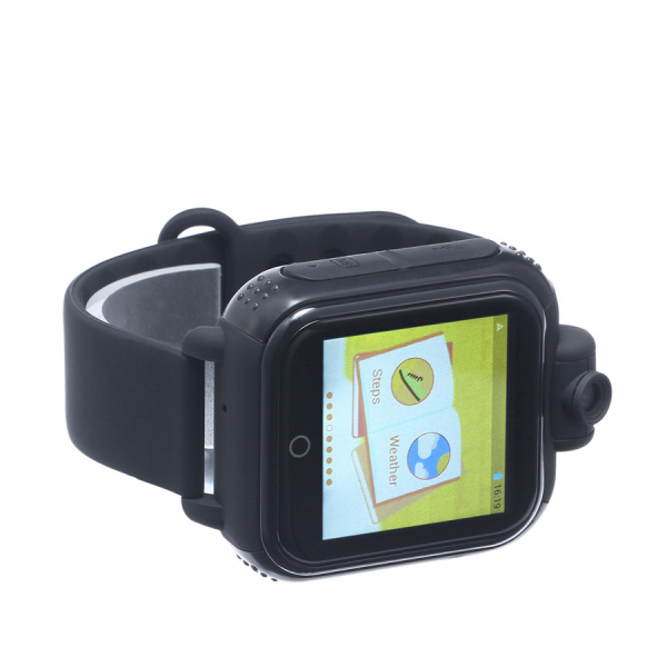 "Ceas smartwatch GPS copii MoreFIT™ GW1000x 3G Pro , GPS, camera 2MP, Wi-FI si functie telefon, ecran touchscreen 1.54"", buton SOS, Negru 1"