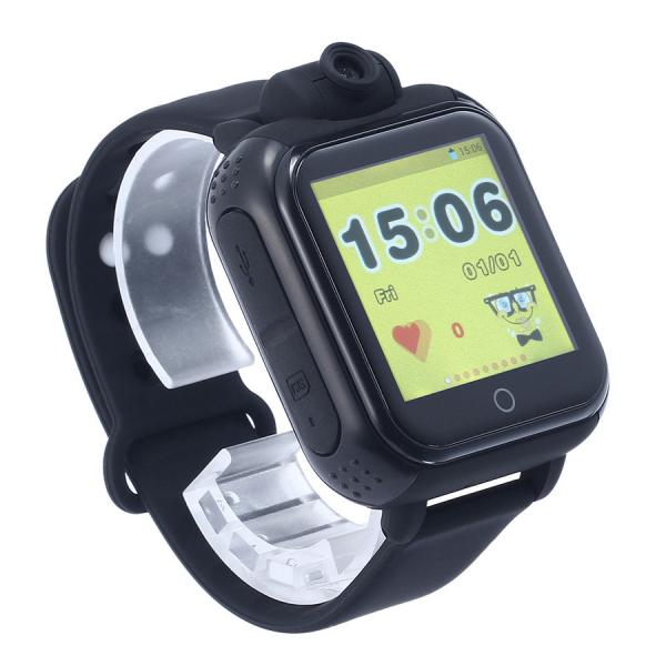 "Ceas smartwatch GPS copii MoreFIT™ GW1000x 3G Pro , GPS, camera 2MP, Wi-FI si functie telefon, ecran touchscreen 1.54"", buton SOS, Negru 0"