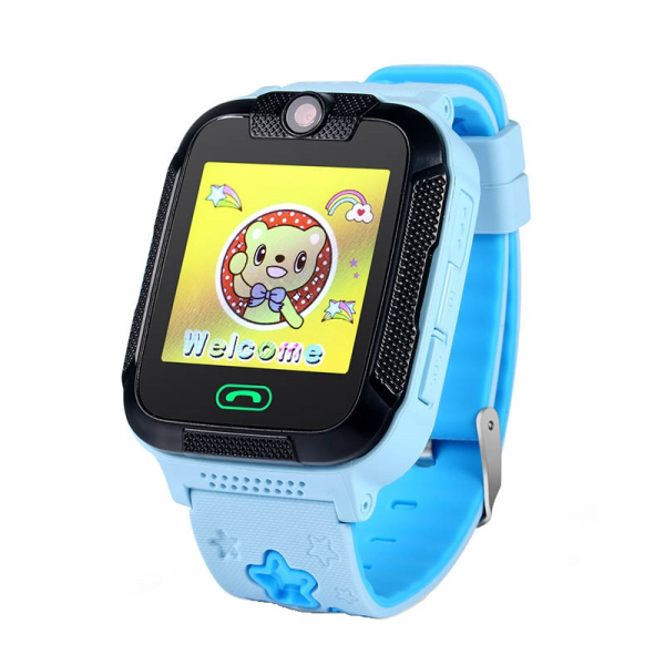 "Ceas smartwatch GPS copii MoreFIT™ GW2000 3G Pro, cu GPS si functie telefon, camera 2MP, WiFi, ecran touchscreen 1.54"", monitorizare spion si buton SOS, albastru + SIM prepay cadou 1"