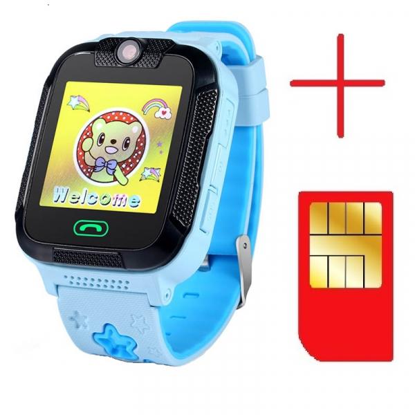 "Ceas smartwatch GPS copii MoreFIT™ GW2000 3G Pro, cu GPS si functie telefon, camera 2MP, WiFi, ecran touchscreen 1.54"", monitorizare spion si buton SOS, albastru + SIM prepay cadou 3"