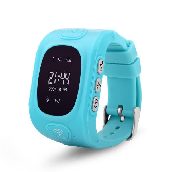 Ceas smartwatch GPS copii MoreFIT™ GW300, tripla pozitionare GPS+LBS+WiFi, telefon, buton SOS, monitorizare spion, design rezistent, Albastru + SIM prepay cadou [0]