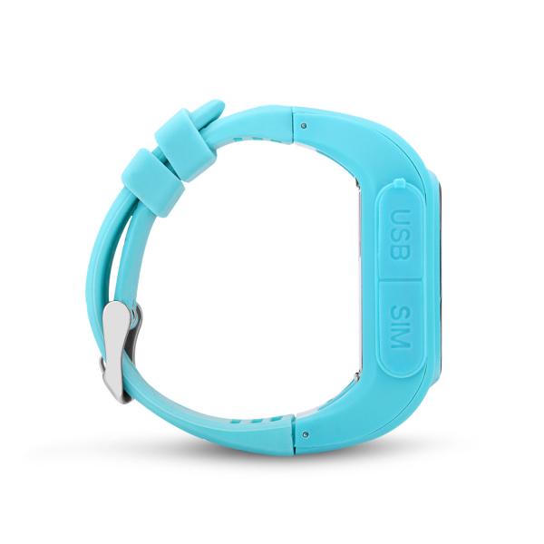 Ceas smartwatch GPS copii MoreFIT™ GW300, tripla pozitionare GPS+LBS+WiFi, telefon, buton SOS, monitorizare spion, design rezistent, Albastru + SIM prepay cadou [1]
