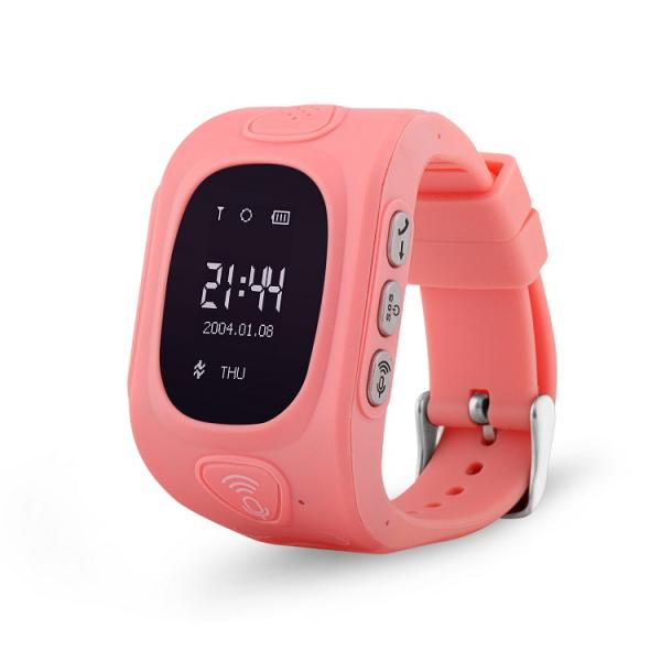 Ceas smartwatch GPS copii MoreFIT™ GW300, tripla pozitionare GPS+LBS+WiFi, telefon, buton SOS, monitorizare spion, design rezistent, Roz + SIM prepay cadou 0